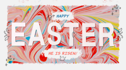 Happy Easter Marble  PowerPoint image 1