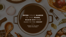 Open Your Hand to the Poor, Reach Out Your Hand to the Needy  PowerPoint image 1