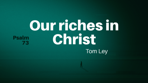 Nothing compares with our riches in Christ.