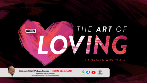 THE ART OF LOVING by Mercury Thomas-Ha, PhD  |  Sunday @ 11:15 AM (021421)