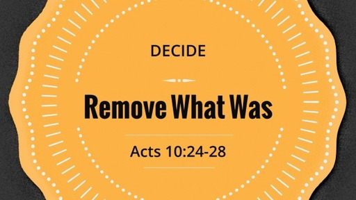 Remove What Was