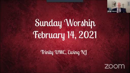 Sunday Worship—Feb. 15, 2021