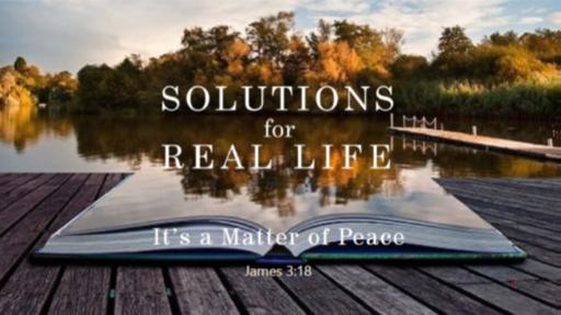 It's a Matter of Peace