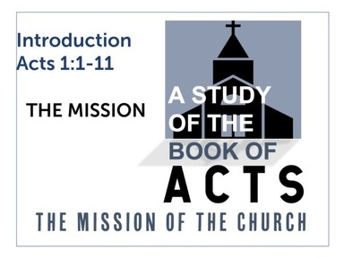 Acts: The Mission of the Church