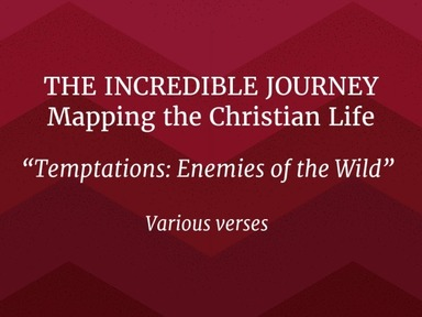 "THE INCREDIBLE JOURNEY!  Mapping the Christian Life ""Temptations: Enemies of the Wild """