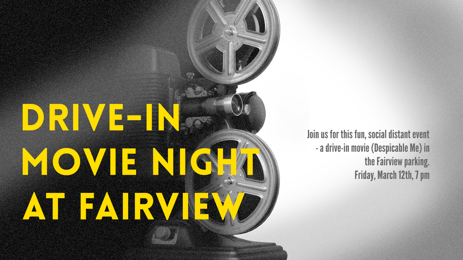 Drive-In Movie night at Fairview