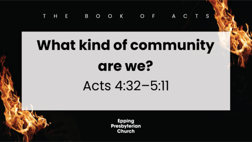What kind of community are we?