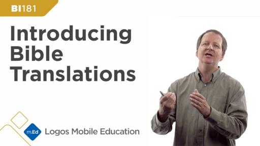 BI181 Introducing Bible Translations