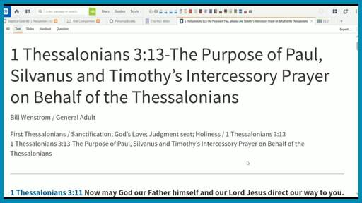 1 Thessalonians 3:13-The Purpose of Paul, Silvanus and Timothy's Intercessory Prayer on Behalf of the Thessalonians