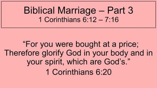 Biblical Marriage-Part 3