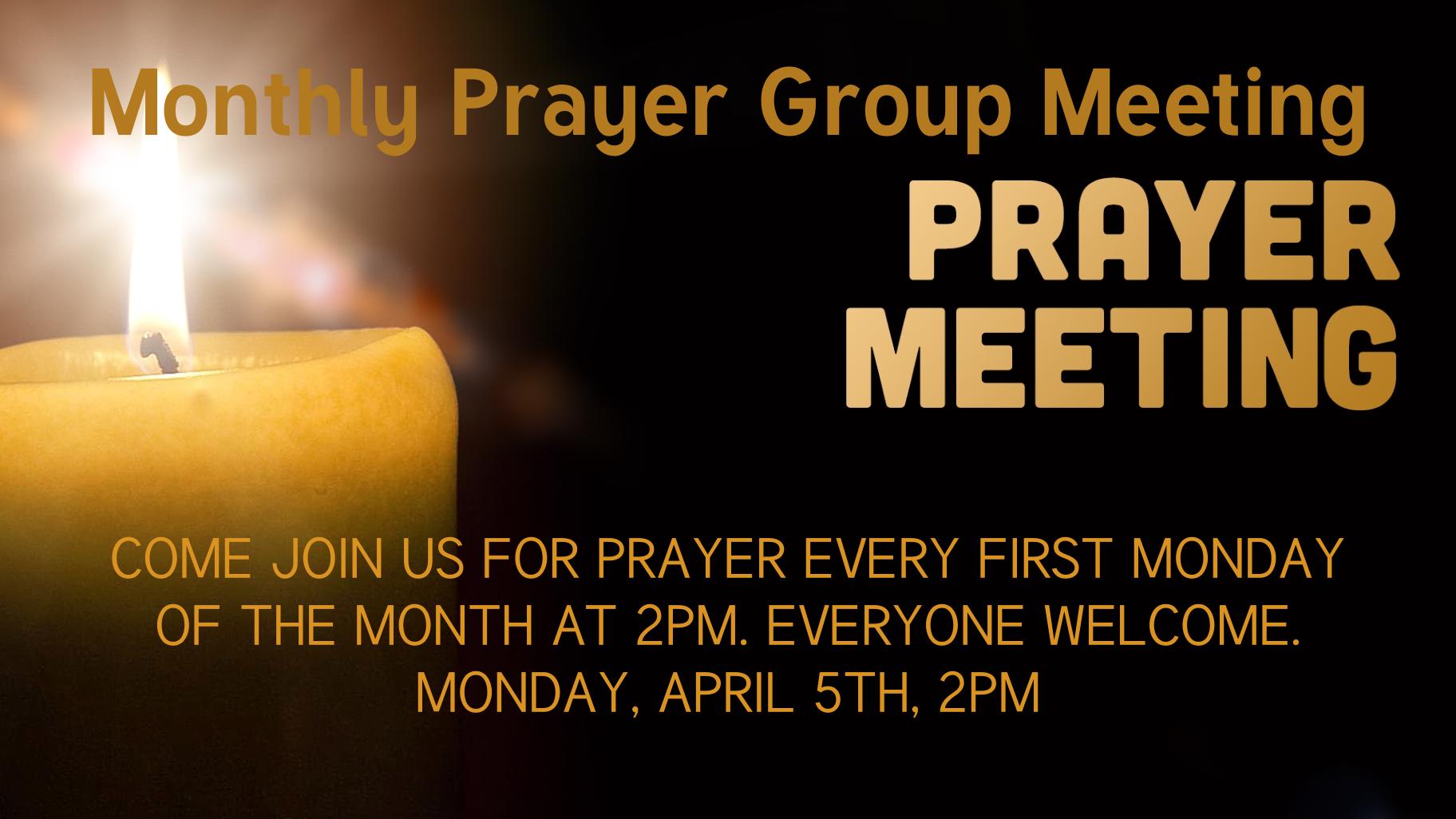 Monthly Prayer Meeting