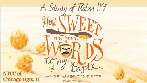 Bible Study Psalm 119 Part 6 2021.03.02