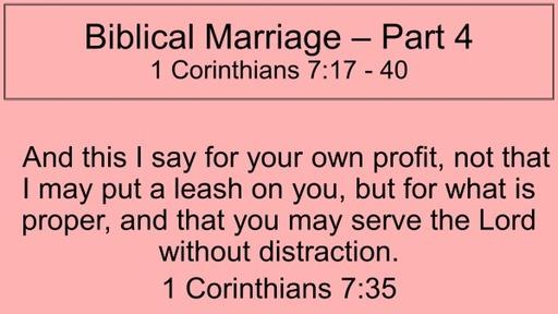 Biblical marraige