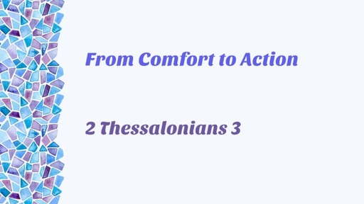 From Comfort to Action (February 28th)
