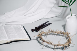 Crown of Thorns with Nails and Bible  image 2