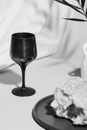 Communion Bread, Wine, Bible and Vase on Table  image 2