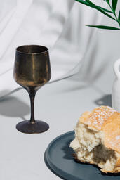 Communion Bread and Wine with Bible  image 5