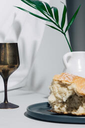 Communion Bread and Wine with Bible  image 6