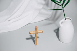 Wooden Cross with Vase  image 8