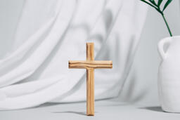 Wooden Cross with Vase  image 7