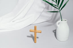 Wooden Cross with Vase  image 5
