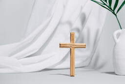 Wooden Cross with Vase  image 3