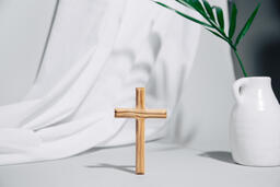 Wooden Cross with Vase  image 2