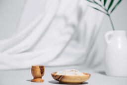 Communion Wafers and Wine with Palm Branch  image 4