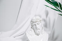 Bust of Jesus with Palm Branch  image 1