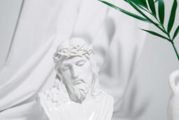 Bust of Jesus with Palm Branch  image 3