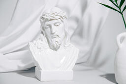 Bust of Jesus with Palm Branch  image 5