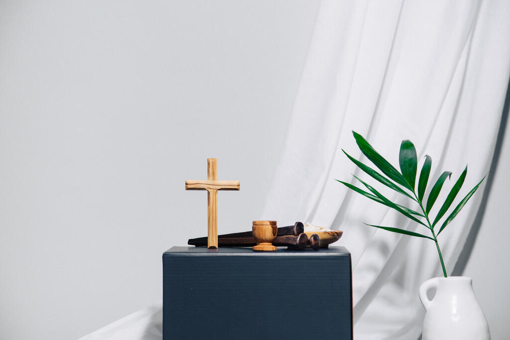 Cross with Palm Branch large preview