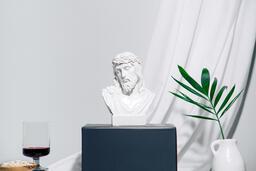 Jesus on pedestal  image 1