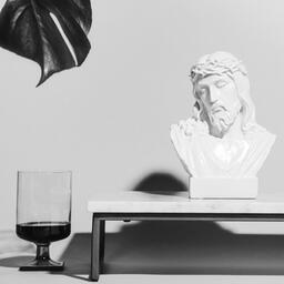 Bust of Jesus with Communion Wine and Bread  image 2