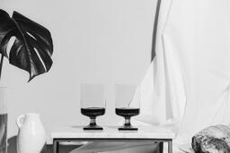 Two Glasses of Communion Wine with Bread  image 3