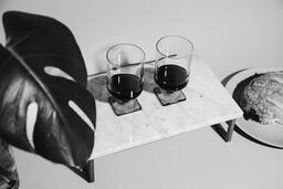 Two Glasses of Communion Wine with Bread  image 6