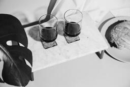 Two Glasses of Communion Wine with Bread  image 14