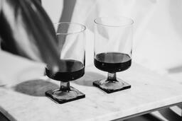Two Glasses of Communion Wine with Bread  image 5