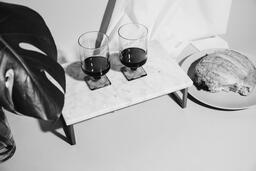 Two Glasses of Communion Wine with Bread  image 11