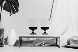 Two Glasses of Communion Wine with Bread  image 13