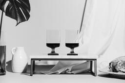 Two Glasses of Communion Wine with Bread  image 12