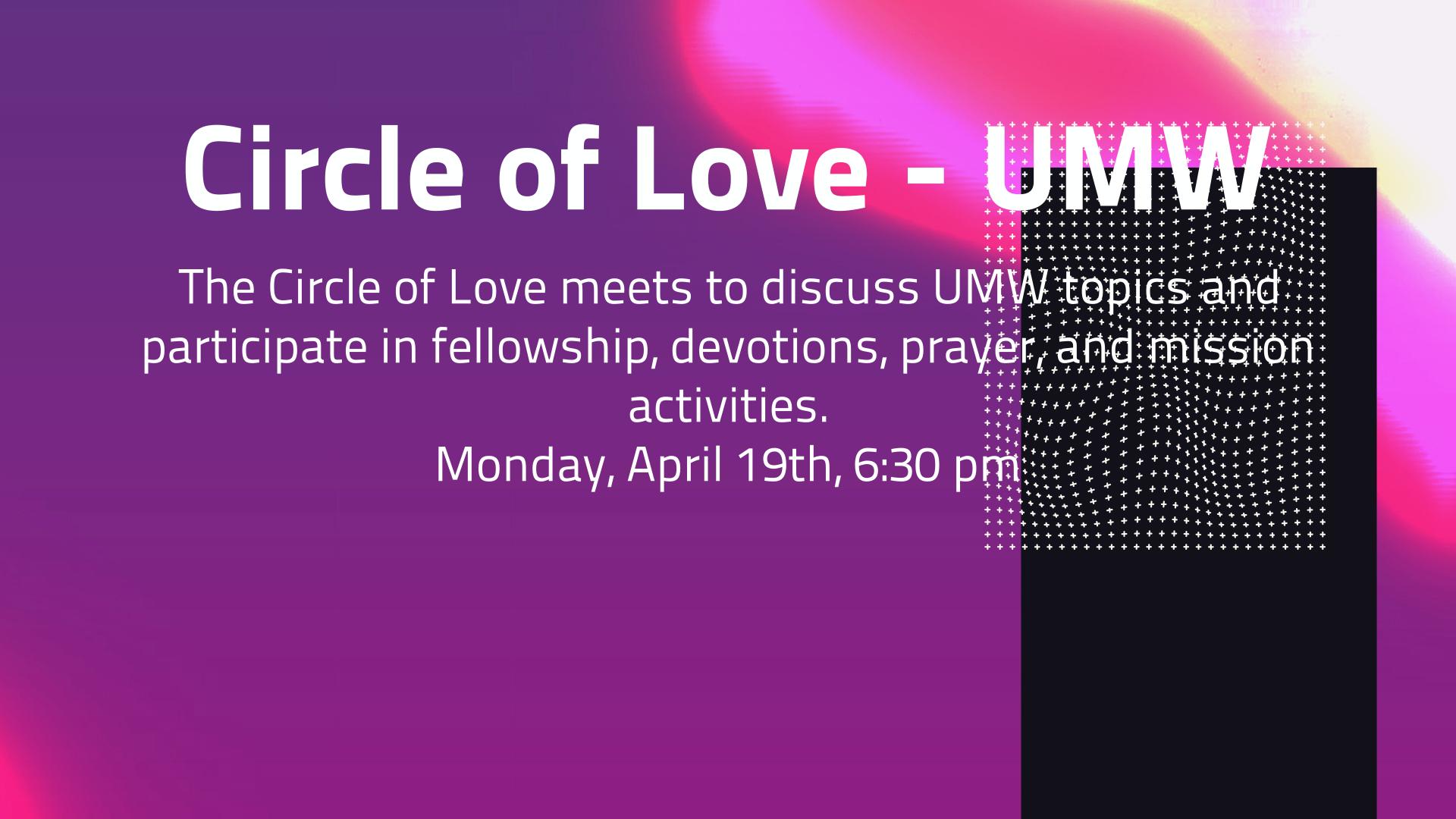 Circle of Love - UMW
