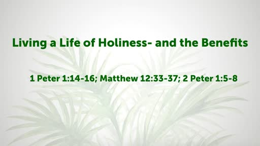 Living a Life of Holiness