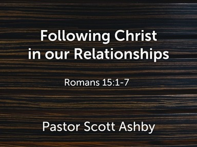 Following Christ in our Relationships