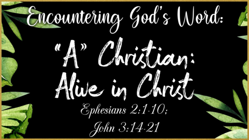 """""""A"""" Christian: Alive in Christ"""