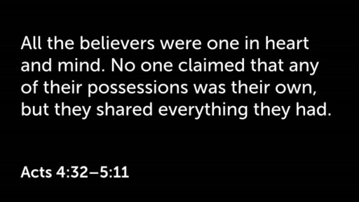 Acts 4:32-5:11