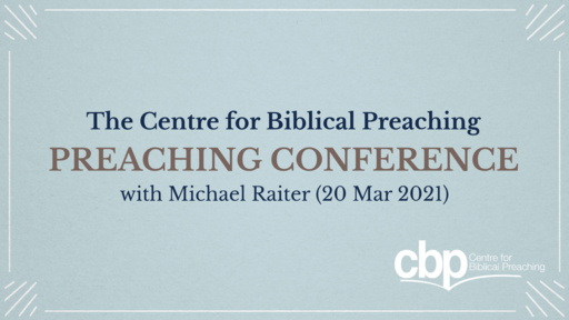 CBP Preaching Conference 2021