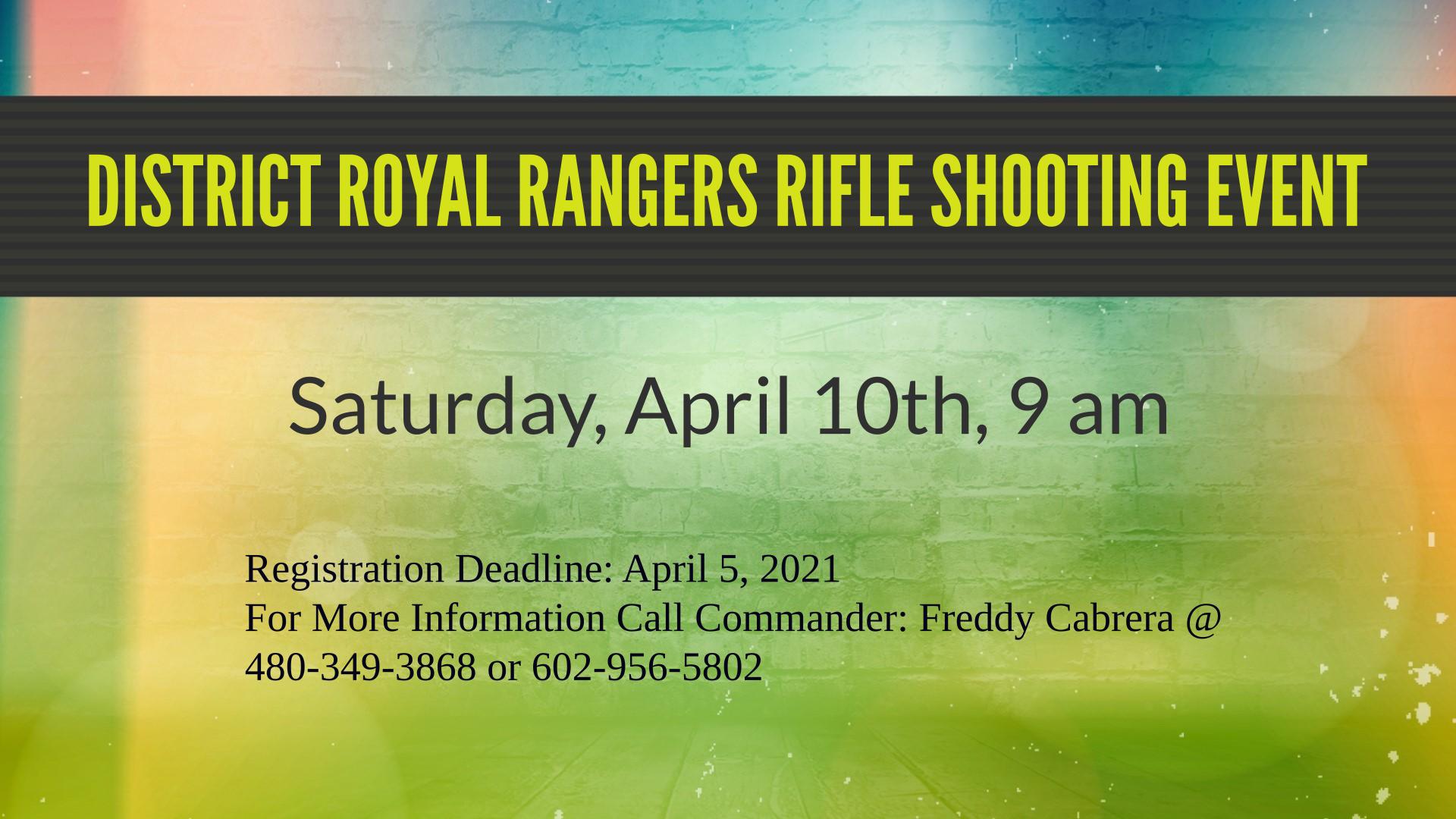 District Royal Rangers Rifle Shooting Event