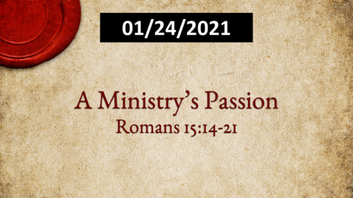 A Ministry's Passion