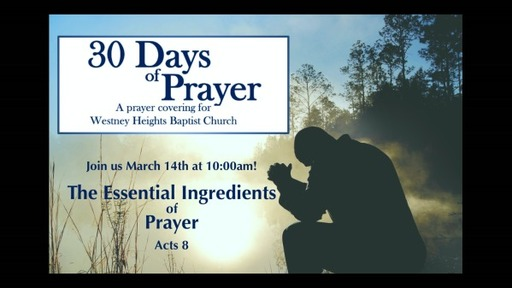 The Essential Ingredients of Prayer (March 14th 2021)